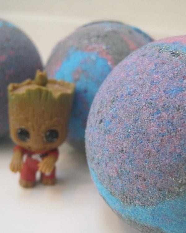 groot bath bomb with groot toy