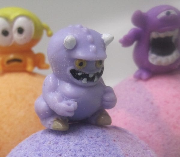 monster bath bombs with monster toys